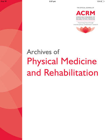 Archives of Physical Medicine and Rehabilitation screenshot 6