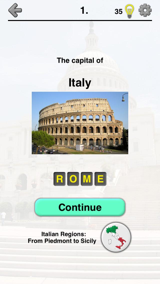 Capitals of the World - Quiz screenshot 1