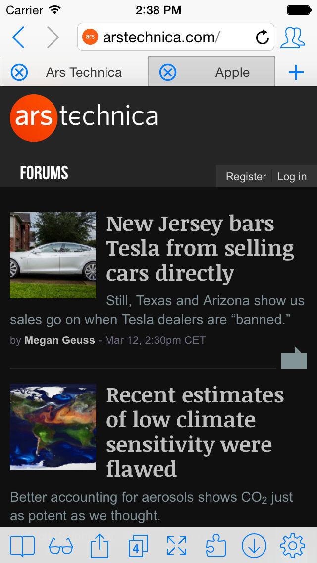 iCab Mobile (Web Browser) screenshot #1