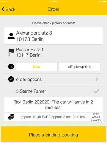 taxi.eu – Taxi App for Europe screenshot #3