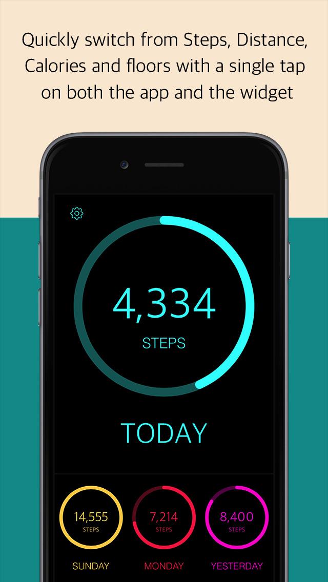 TodaySteps - the definitive pedometer screenshot 1