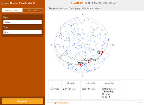 Wolfram Planets Reference App screenshot 9