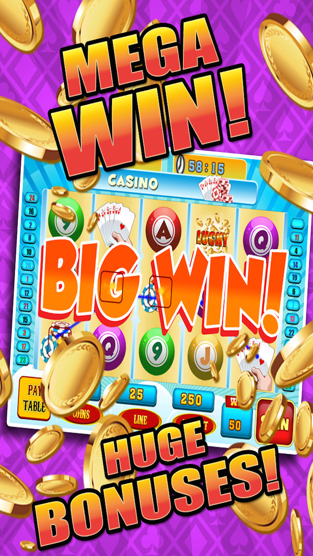 Aces Bingo Slots Casino - Crazy Fun Vegas-Style Super Bingo Slot Machine Game Free screenshot 3