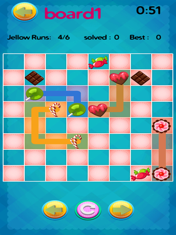 ' A Candy Connect Sweet Treat Path – Free Logic Game screenshot 7