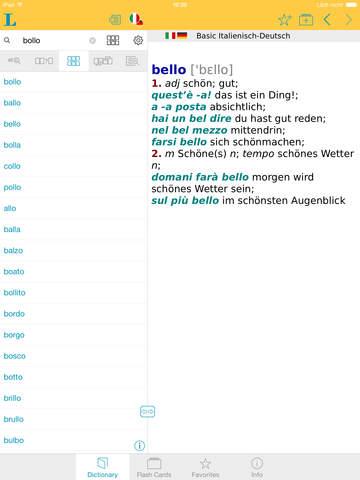 Italian <-> German Talking Dictionary Basic screenshot 9