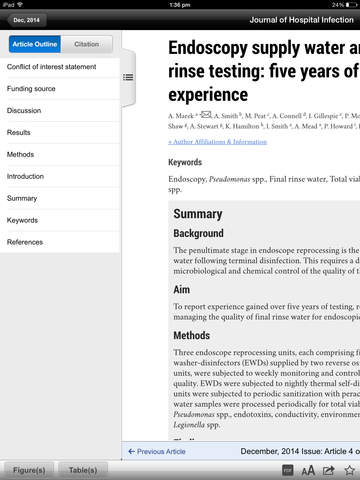 Journal of Hospital Infection screenshot 7