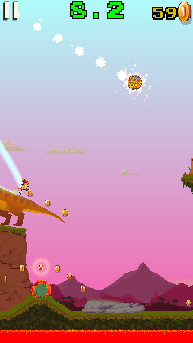 Dino Skater screenshot 4