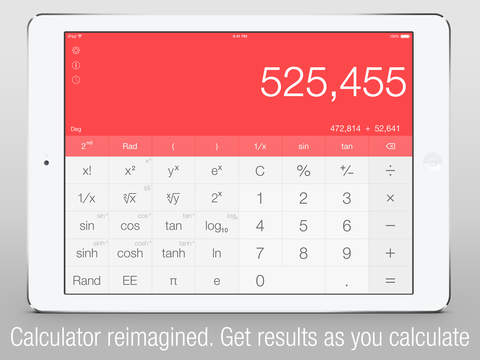 Calс One - Free Smart Calculator for iOS 8 screenshot 1