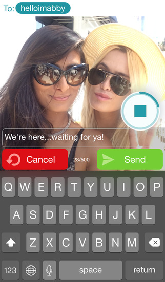 Squawkin Crowd Messenger - Custom Mix Photos, Voice, Text & Location screenshot 3
