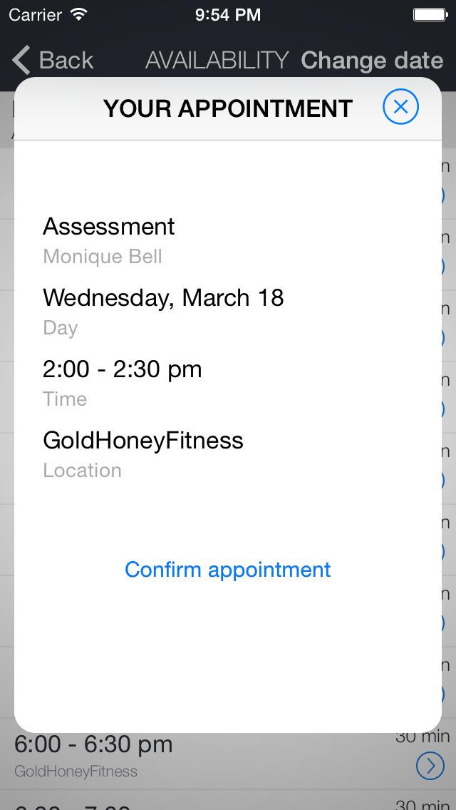 Gold Honey Fitness screenshot 3