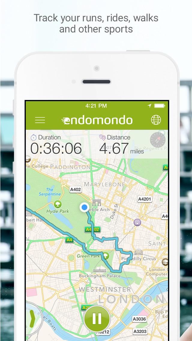 Endomondo screenshot 1