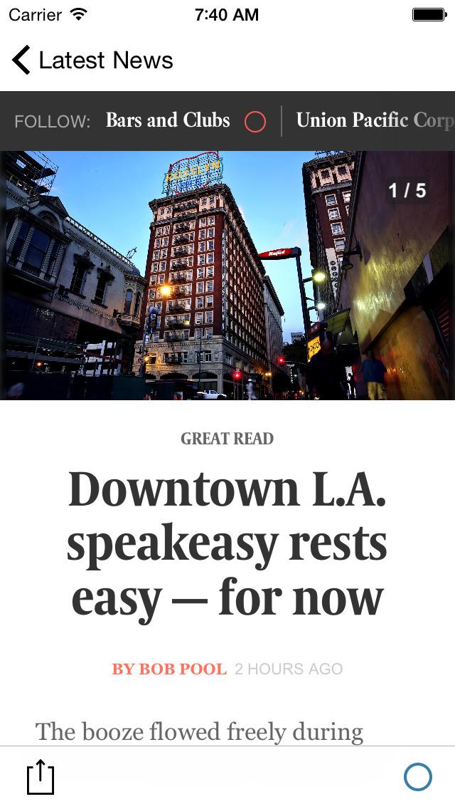 LA Times screenshot 3