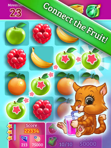 Smoothie Swipe - Free Match 3 Fruit Juice Maker screenshot #1