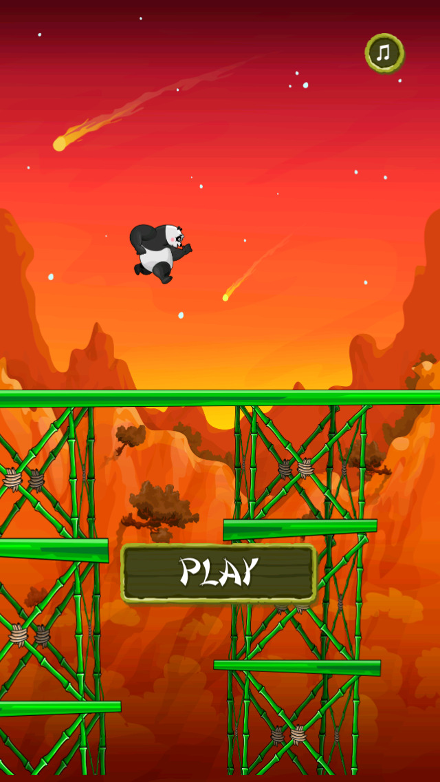 Panda Ninja Jump screenshot 3