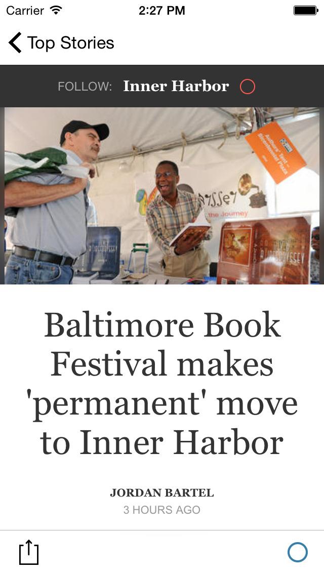 The Baltimore Sun screenshot 2