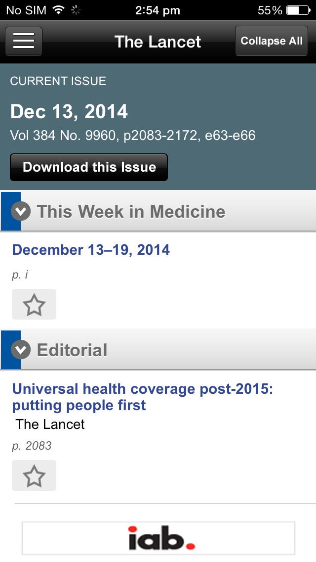 The Lancet screenshot 4