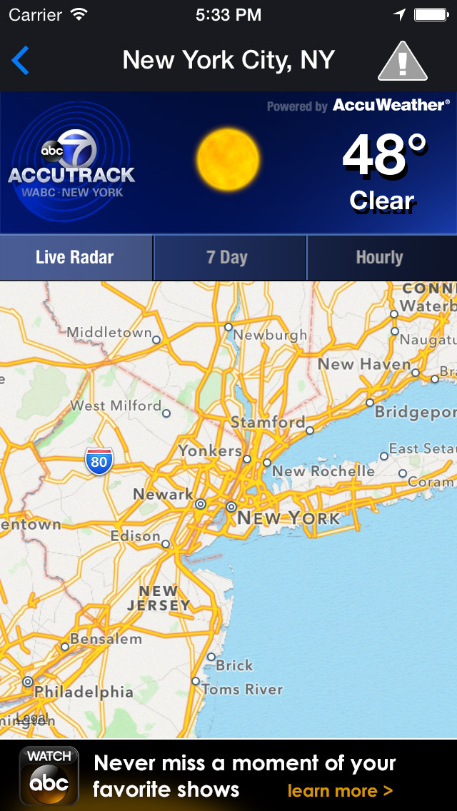 AccuTrack WABC NY Weather screenshot 2