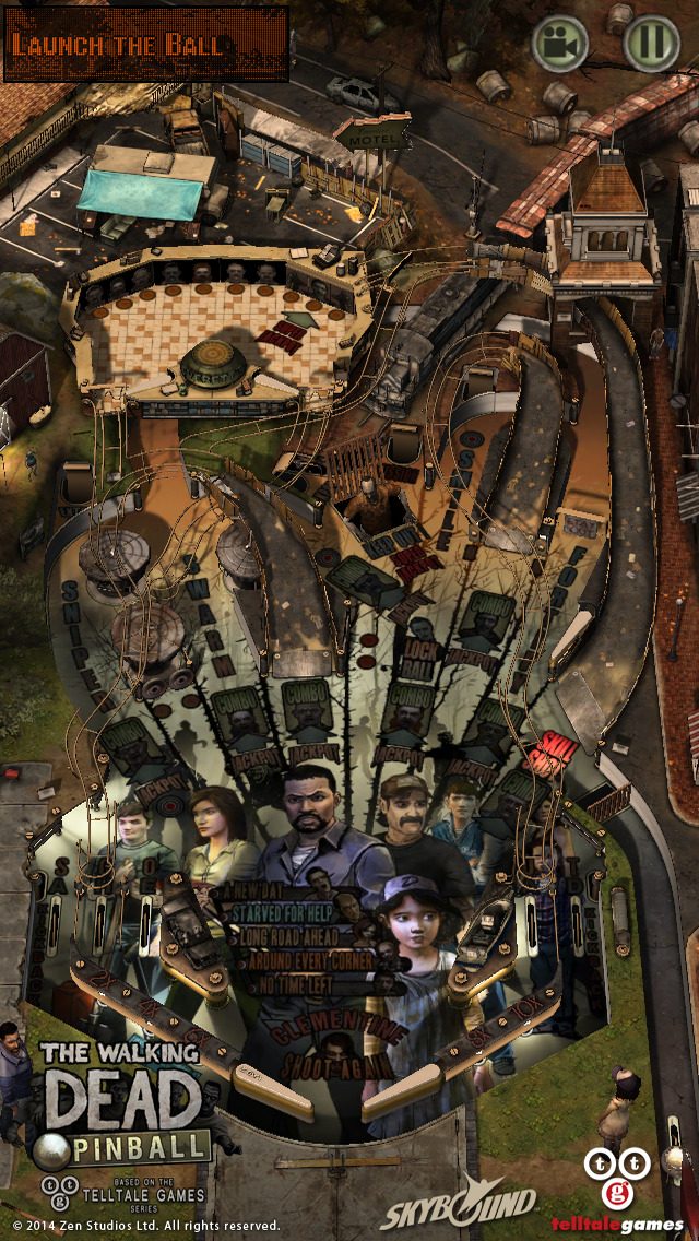 The Walking Dead Pinball screenshot #1