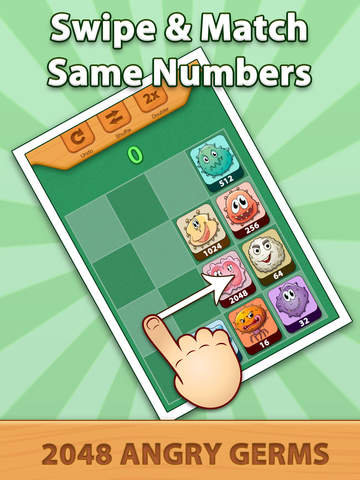 2048 Angry Germs Pro screenshot 7