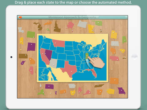 United States Of America LITE - A Montessori Approach To Geography screenshot 1