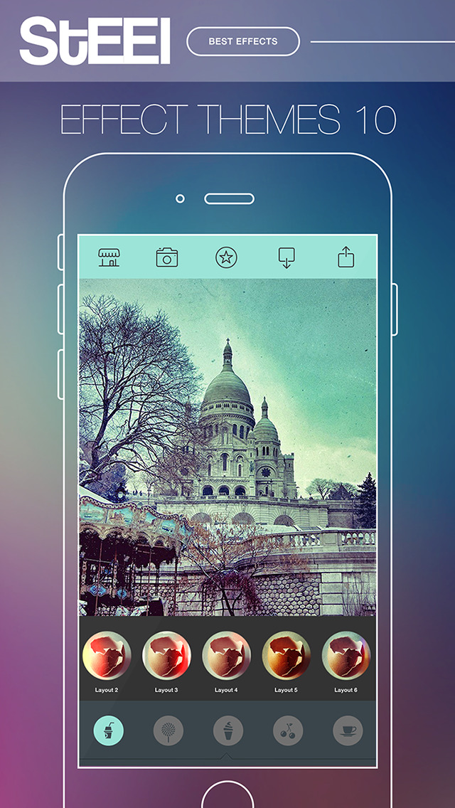 STEEL Camera - Best Photo Editor and Stylish Camera Filters Effects screenshot 1