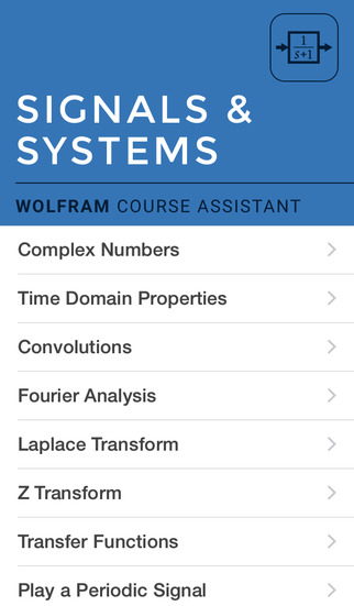 Wolfram Signals & Systems Course Assistant screenshot 1