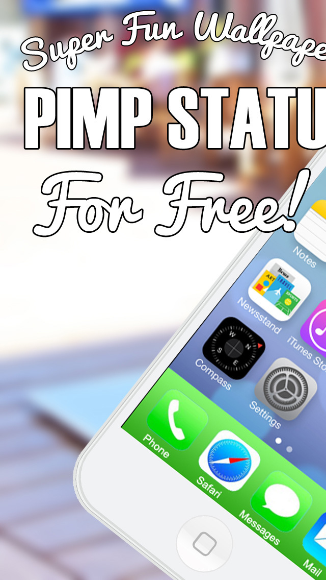 Pimp Status Bar FREE - Customize Wallpapers and Backgrounds for iPhone iPad and iPod Touch screenshot 1