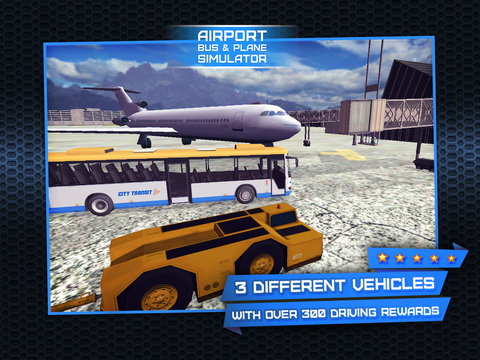 3D Plane and Bus Simulator PRO - Airplane & Car Parking, Driving and Racing - Training Game on Real City Airport screenshot 7