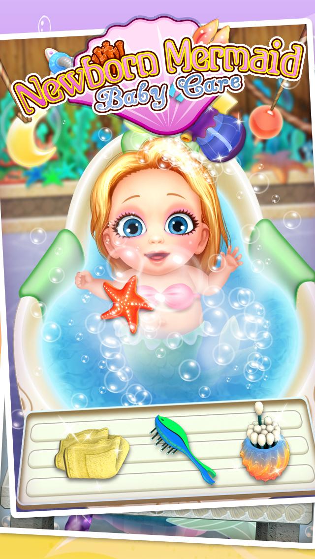 Mermaid's Newborn Baby Doctor - kids game & new baby screenshot 4