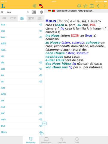Portuguese <-> German Dictionary Standard screenshot 9