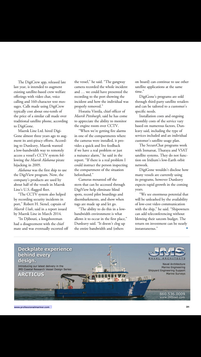 Professional Mariner Magazine screenshot 5