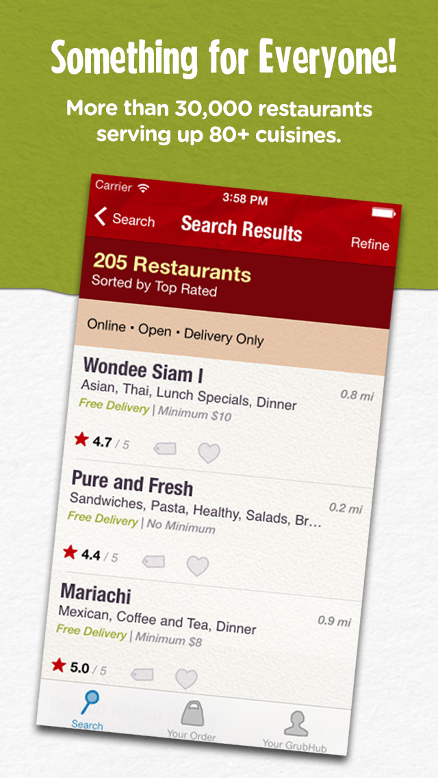 Grubhub: Local Food Delivery screenshot 2