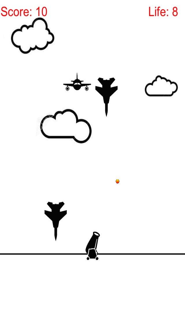 Attack and Defense Combat - Artillery Shoot Air Plane screenshot 2