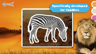 Kids Puzzle Teach me Tracing & Counting with Wild Animals Photo: Draw your own giraffe, zebra, hippo and lion and learn all about the safari screenshot 5