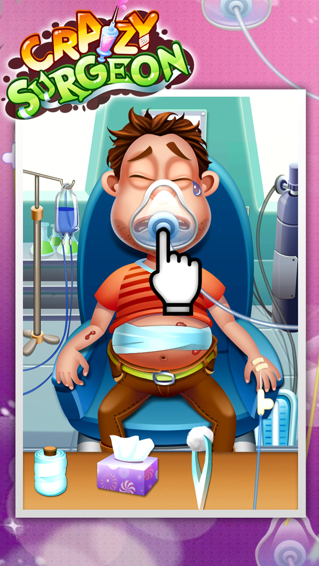 Crazy Surgeon - casual free kids games & doctor game screenshot 3