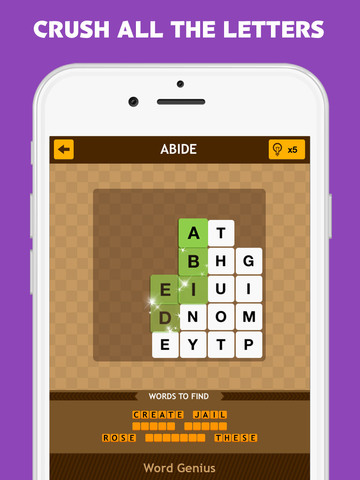 Word Genius - The Most Addictive Word Brain Puzzle Game is on Tour now! screenshot 8