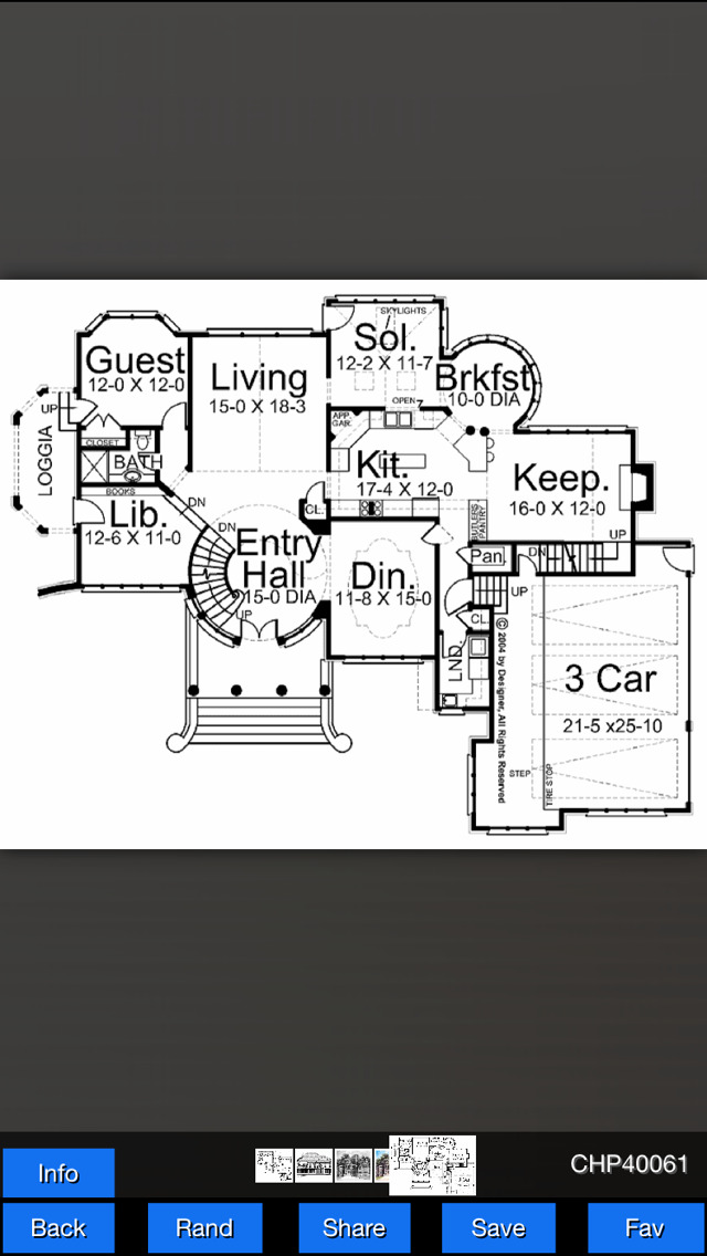 Chateau House Plans screenshot 5