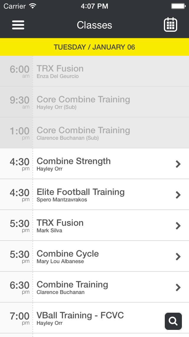 Combine Fitness screenshot #3