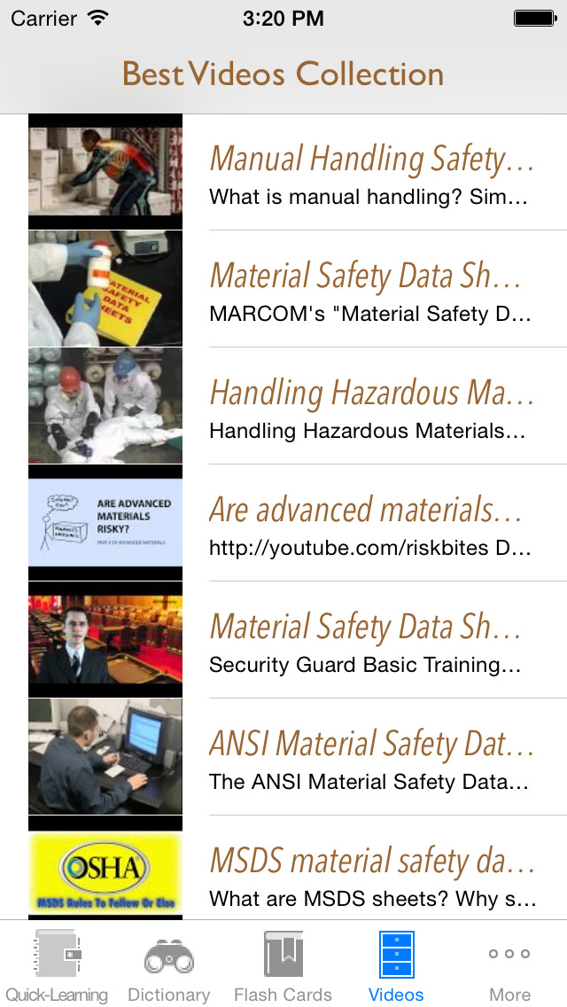 Material & Occupational Safety Quick Study Reference: Best Dictionary with Video Lessons and Learning Cheat Sheets screenshot 5