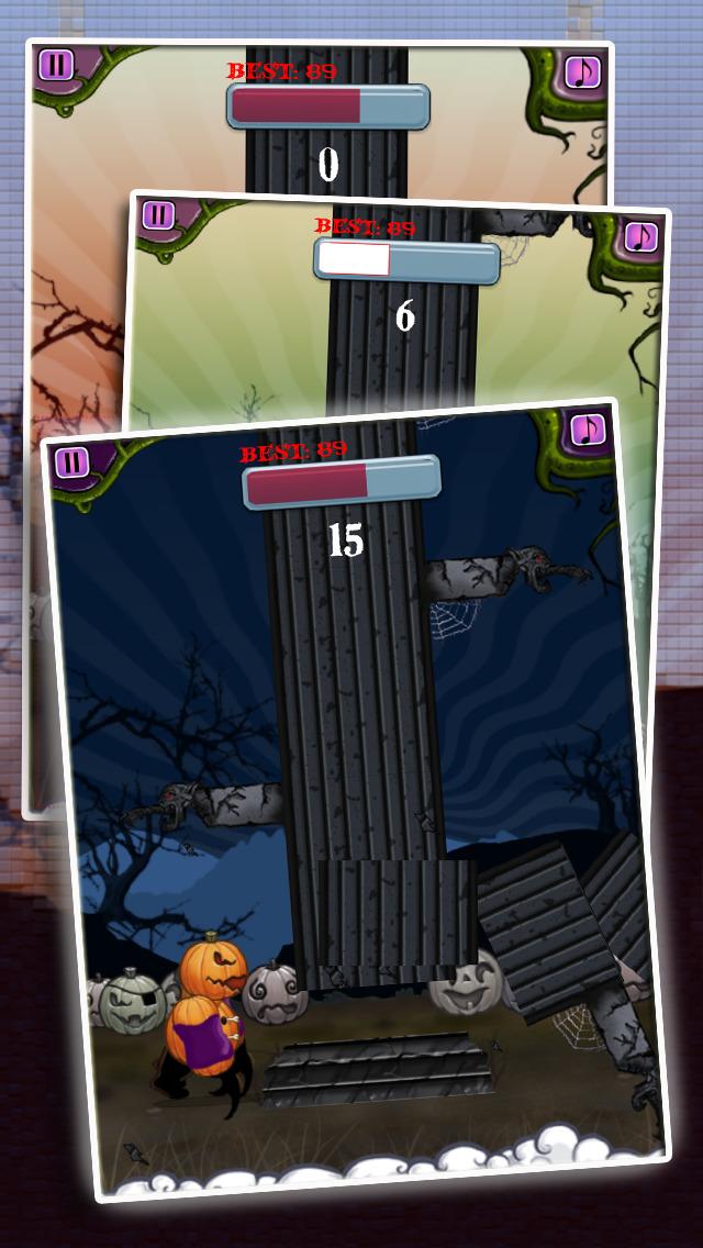Monster Tower - Halloween Tree Chopping Pumpkin Man screenshot 3