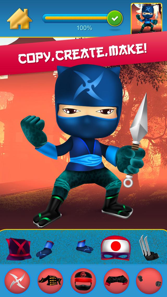 My Mega Power Ninja Hero Design & Copy Crazy Game - Pro screenshot 4