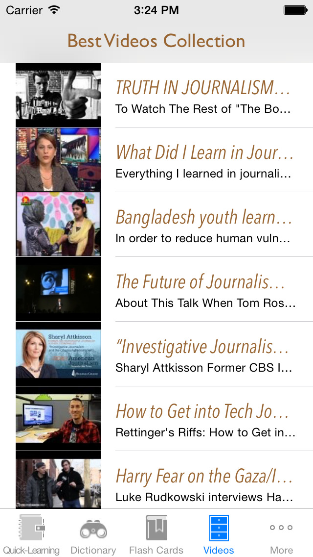 Journalism and Media Dictionary: Flashcard with Free Video Lessons and Cheatsheets screenshot 5