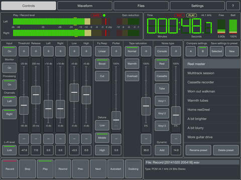 Master Record - Tape simulation recorder & effects screenshot 1