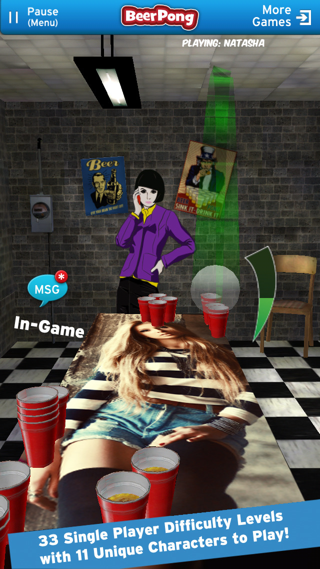 Beer Pong Game screenshot 2