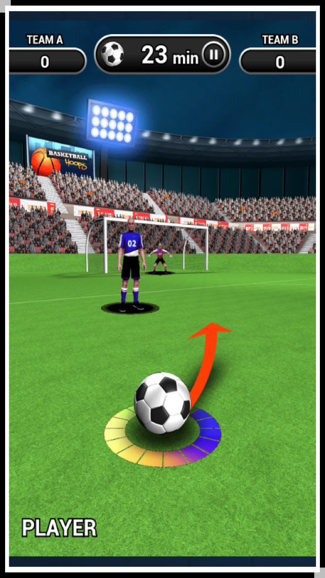 3D World Soccer Free Kick screenshot 1