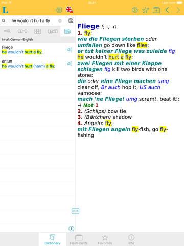 German English XL Dictionary screenshot 7