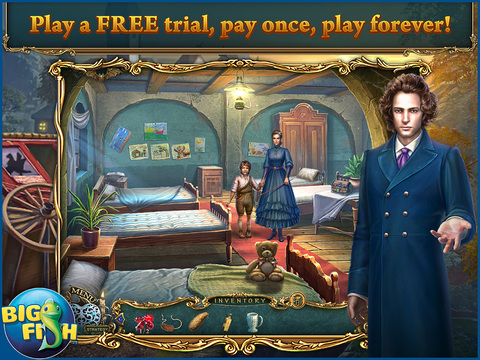 Haunted Legends: The Stone Guest HD - A Hidden Objects Detective Game screenshot 1