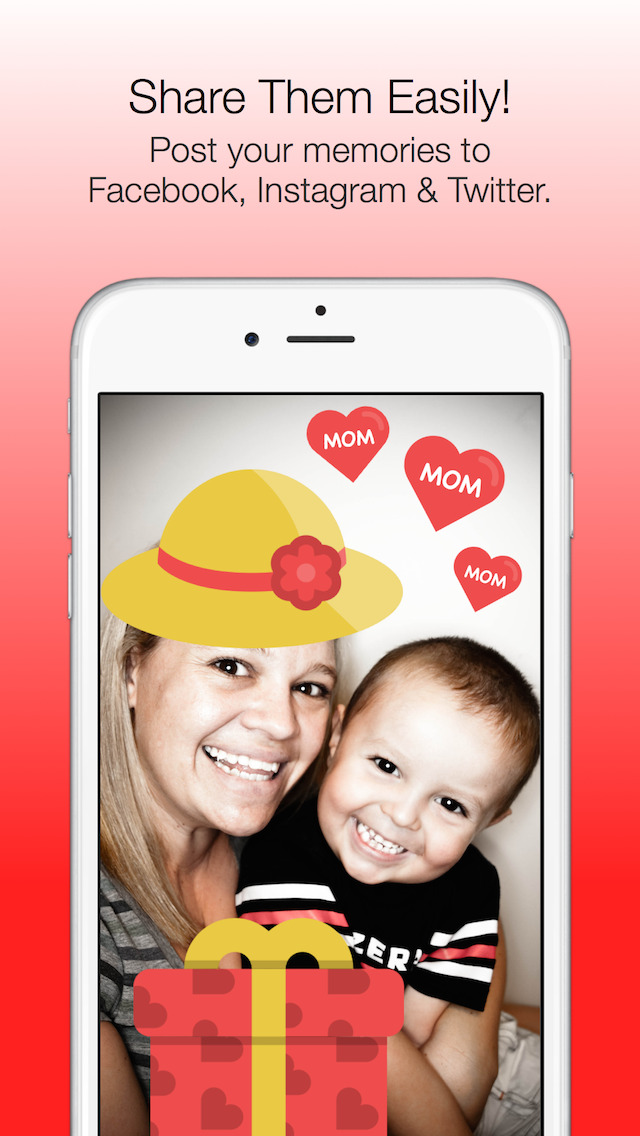 Mother's Day Photo Stickers - with Facebook & Instagram Sharing screenshot 2