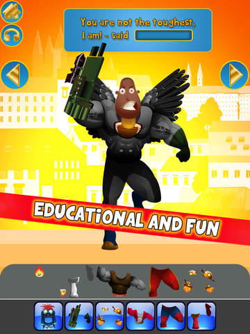 Create My Own Interactive Action Superheroes And Super Villains Story Books Free Game screenshot 7
