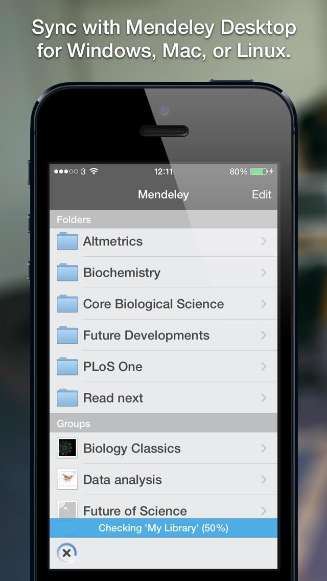 Mendeley (PDF Reader) screenshot 3